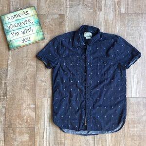 Lucky Brand 🔹Western Short Sleeve Collared Shirt